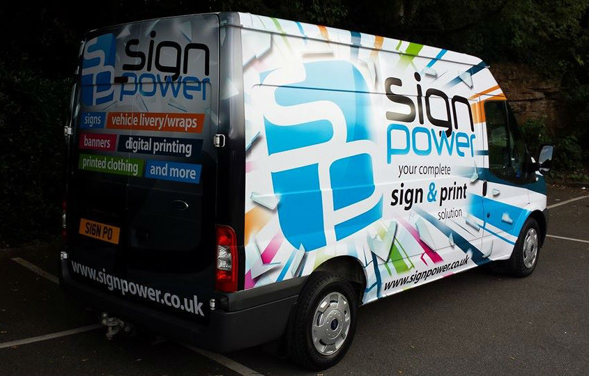 sign power van