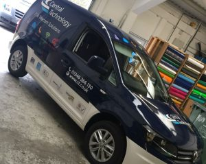 vehicle wrap on van