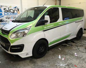 vehicle wrap on minivan