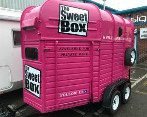 sweet box signage